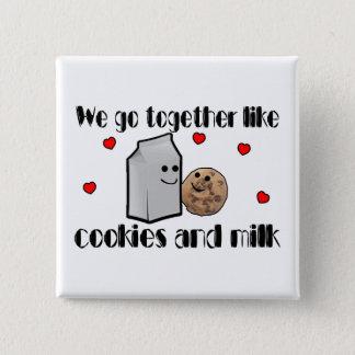Badge Carré 5 Cm Biscuits et amour de lait