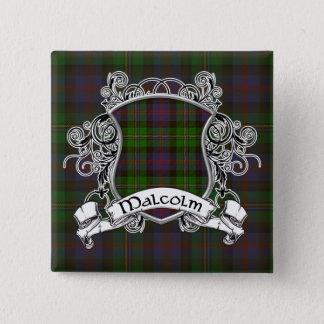 Badge Carré 5 Cm Bouclier de tartan de Malcolm