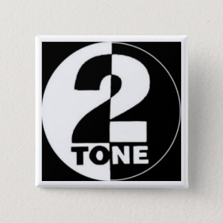 Badge Carré 5 Cm bouton 2tone carré