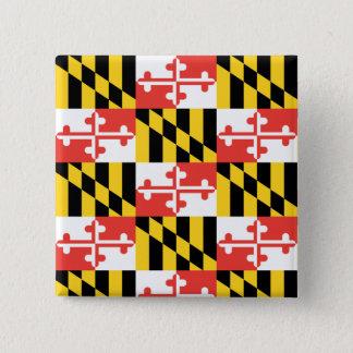 Badge Carré 5 Cm Bouton de carré de drapeau du Maryland
