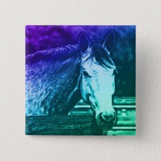 Badge Carré 5 Cm Bouton de cheval