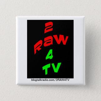 Badge Carré 5 Cm BOUTON de la RÉVOLUTION 2RAW4TV