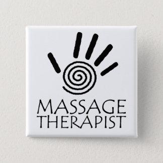 Badge Carré 5 Cm Bouton de thérapeute de massage