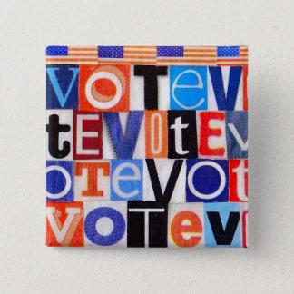 Badge Carré 5 Cm Bouton de vote