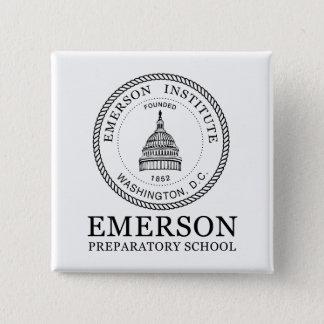 Badge Carré 5 Cm Bouton d'Emerson