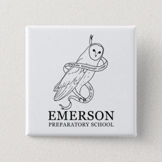 Badge Carré 5 Cm Bouton d'Emerson (hibou)