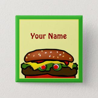Badge Carré 5 Cm Bouton drôle d'étiquette de nom de pique-nique