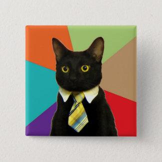 Badge Carré 5 Cm Bouton fait sur commande de chat d'affaires
