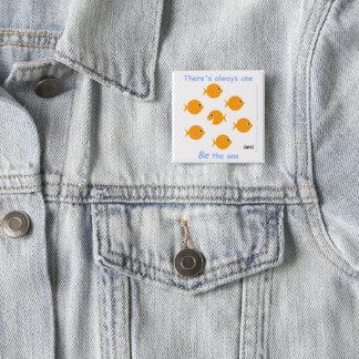 Badge Carré 5 Cm Bouton inspiré de motivation mignon de cadeau