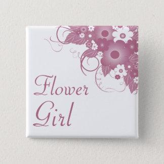 Badge Carré 5 Cm Bouton mauve de bouquet de demoiselle de honneur