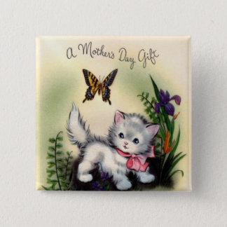 Badge Carré 5 Cm Bouton vintage de carré de jour de mères