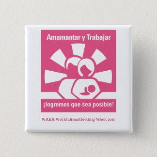 Badge Carré 5 Cm Bouton WBW15 (espagnol)