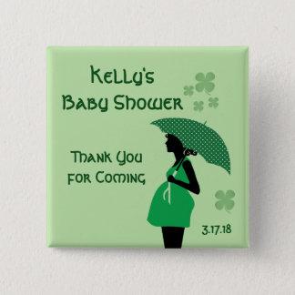 Badge Carré 5 Cm Boutons irlandais de bosse de bébé de thème