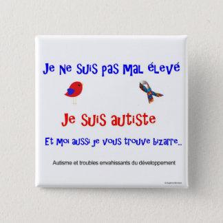 Badge Carré 5 Cm Carré d'élevé du pas CMA de suis de Ne de Macaron