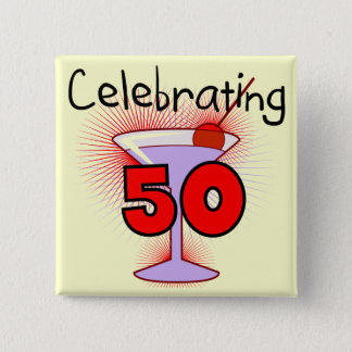 Badge Carré 5 Cm Célébration de 50 T-shirts et cadeaux