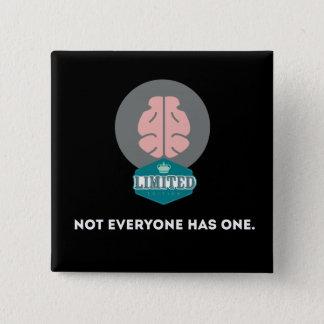 Badge Carré 5 Cm Cerveau d'édition limitée