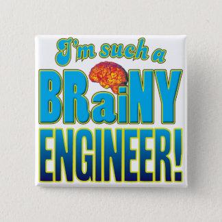 Badge Carré 5 Cm Cerveau intelligent d'ingénieur