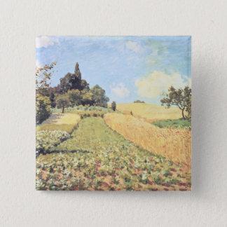 Badge Carré 5 Cm Champ de blé d'Alfred Sisley |