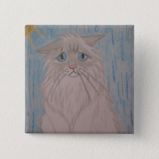 Badge Carré 5 Cm Chat triste
