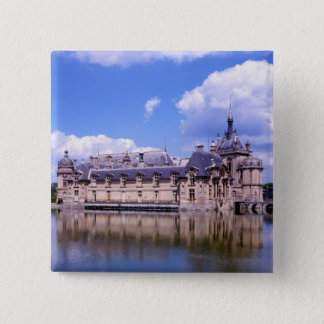 Badge Carré 5 Cm Château Chantilly, l'Oise, France