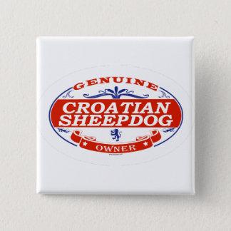 Badge Carré 5 Cm Chien de berger croate