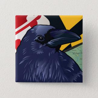 Badge Carré 5 Cm Citoyen Raven, le Maryland plus jamais
