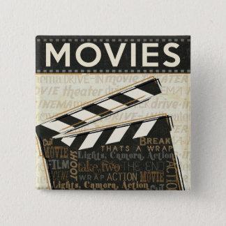 Badge Carré 5 Cm Clapet vintage de film