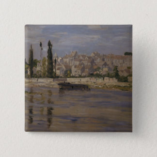 Badge Carré 5 Cm Claude Monet | Carrieres-Saint-Denis, 1872