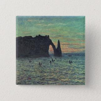 Badge Carré 5 Cm Claude Monet | l'aiguille creuse chez Etretat,