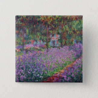 Badge Carré 5 Cm Claude Monet | le jardin de l'artiste chez Giverny