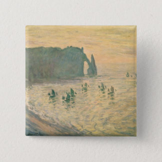 Badge Carré 5 Cm Claude Monet | les falaises chez Etretat, 1886
