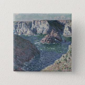 Badge Carré 5 Cm Claude Monet | les roches au Belle-Ile, 1886