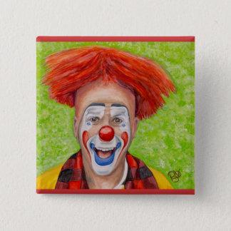 Badge Carré 5 Cm Clown Steven Daniel Copeland