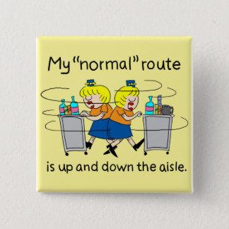 Badge Carré 5 Cm | comique Jetlagged mon bouton normal de carré