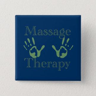 Badge Carré 5 Cm Copies de main de thérapie de massage