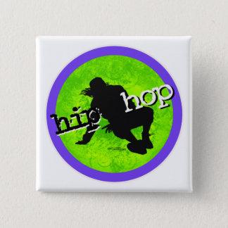 Badge Carré 5 Cm Danse - bouton de hip hop