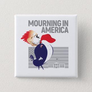 Badge Carré 5 Cm Deuil dans le bouton de l'Amérique