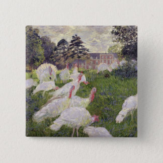 Badge Carré 5 Cm Dindes de Claude Monet | chez Chateau de