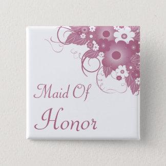 Badge Carré 5 Cm Domestique de bouton mauve de bouquet d'honneur