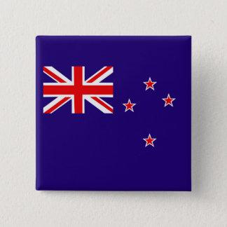 Badge Carré 5 Cm Drapeau de la Nouvelle Zélande