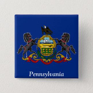 Badge Carré 5 Cm Drapeau de la Pennsylvanie