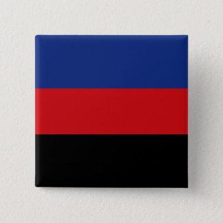 Badge Carré 5 Cm Drapeau solide de fierté de Polyamory