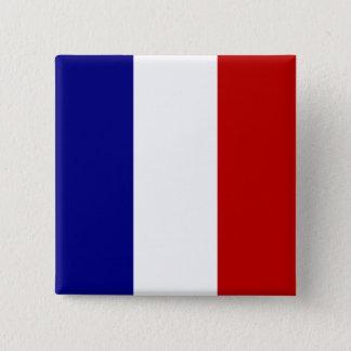 Badge Carré 5 Cm Drapeau totalement français