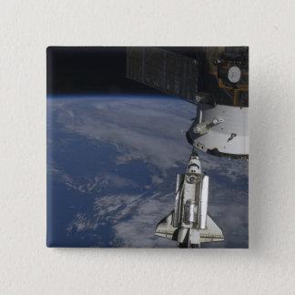 Badge Carré 5 Cm Effort de navette spatiale 2