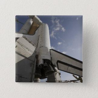 Badge Carré 5 Cm Effort de navette spatiale sur la plate-forme de