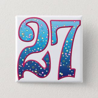 Badge Carré 5 Cm Éloge de 27 âges