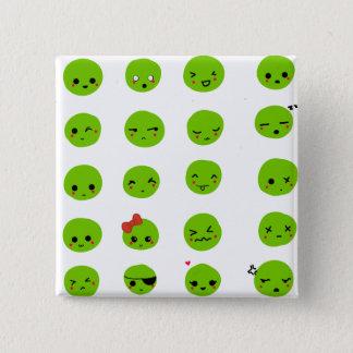 Badge Carré 5 Cm émoticône de mimu réglée - insigne de bouton