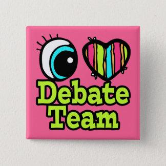 Badge Carré 5 Cm Équipe intelligente de discussion d'amour du coeur