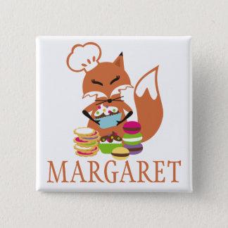 Badge Carré 5 Cm Étiquette nommée de petits gâteaux de biscuits de