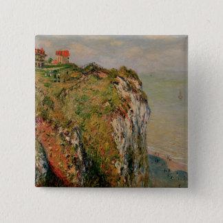 Badge Carré 5 Cm Falaise de Claude Monet | chez Dieppe, 1882